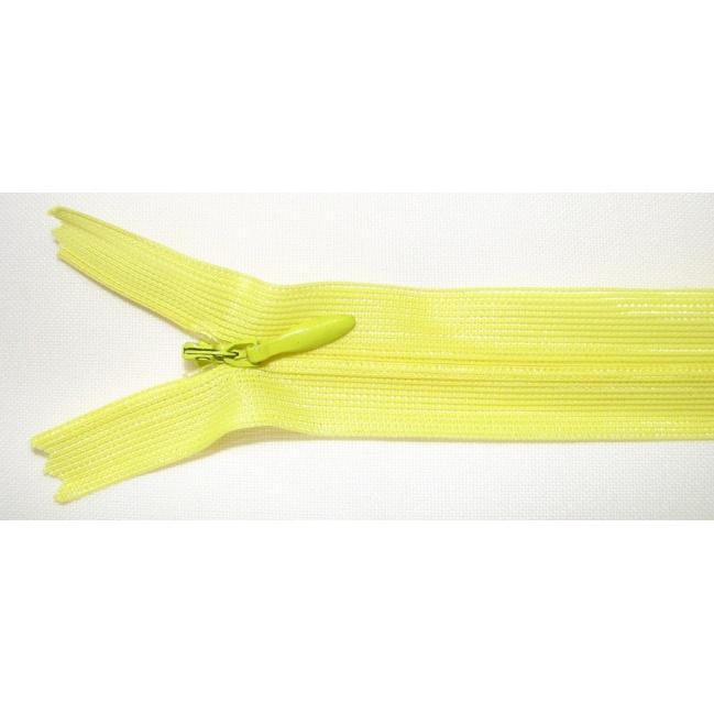 Zips krytý nedeliteľný 40cm žltý