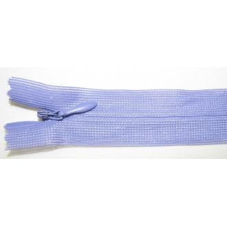 Zips krytý nedeliteľný 40cm tmavší fialový