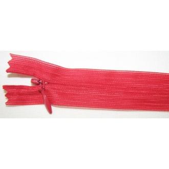 Zips krytý nedeliteľný 40cm červený