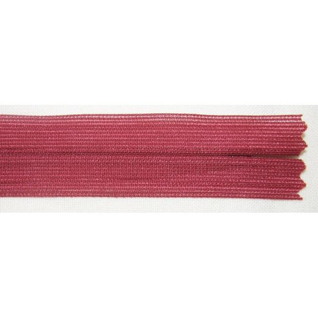 Zips krytý nedeliteľný 40cm tmavší bordový
