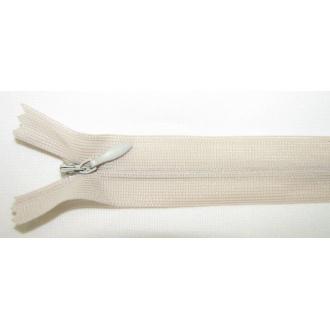 Zips krytý nedeliteľný 45cm bledučko hnedý
