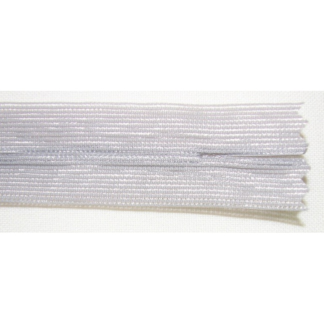 Zips krytý nedeliteľný 45cm bledo šedý
