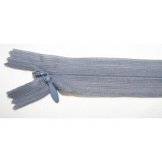 Zips krytý nedeliteľný 45cm šedý