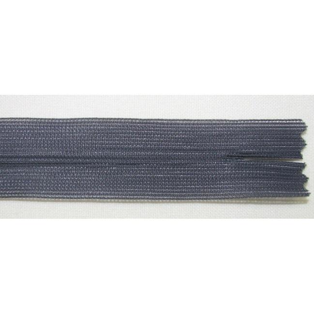 Zips krytý nedeliteľný 45cm tmavo šedý