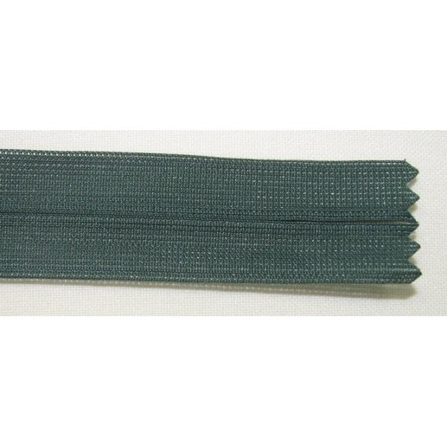 Zips krytý nedeliteľný 45cm tmavo zelená