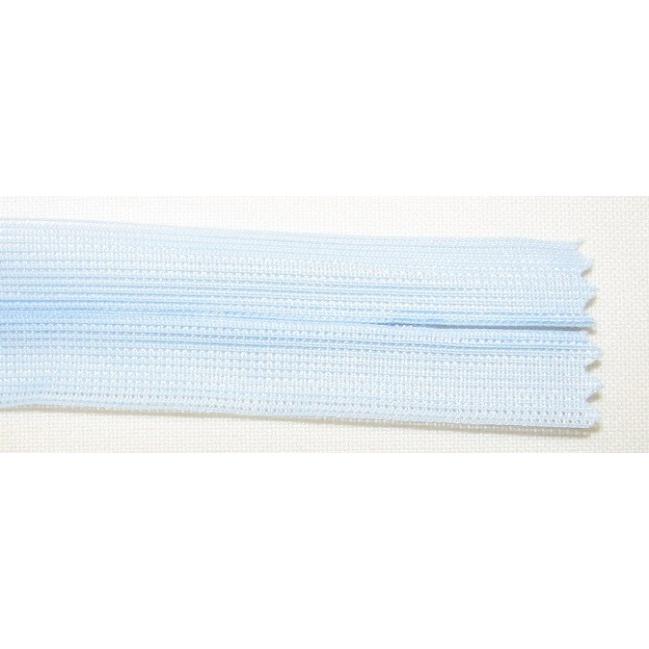 Zips krytý nedeliteľný 45cm bledučko modrá