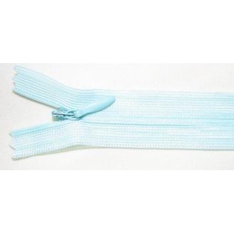 Zips krytý nedeliteľný 45cm modrý