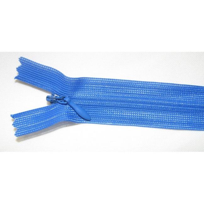 Zips krytý nedeliteľný 45cm kráľovská modrá