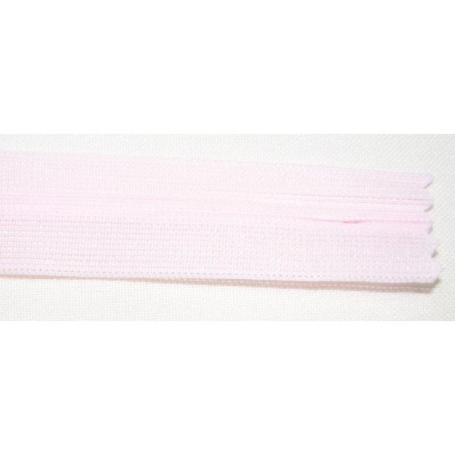 Zips krytý nedeliteľný 45cm bledo ružový