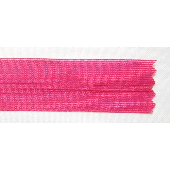 Zips krytý nedeliteľný 45cm cyklamenový