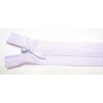 Zips krytý nedeliteľný 45cm bledo fialová