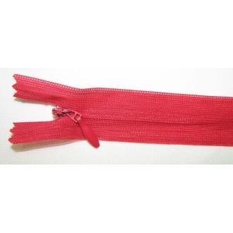 Zips krytý nedeliteľný 45cm červený