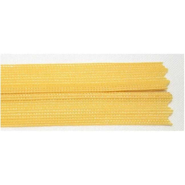 Zips krytý nedeliteľný 45cm žltý