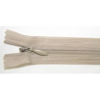 Zips krytý nedeliteľný 50cm hnedý