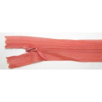 Zips krytý nedeliteľný 50cm tehlový