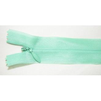 Zips krytý nedeliteľný 50cm bledo zelený