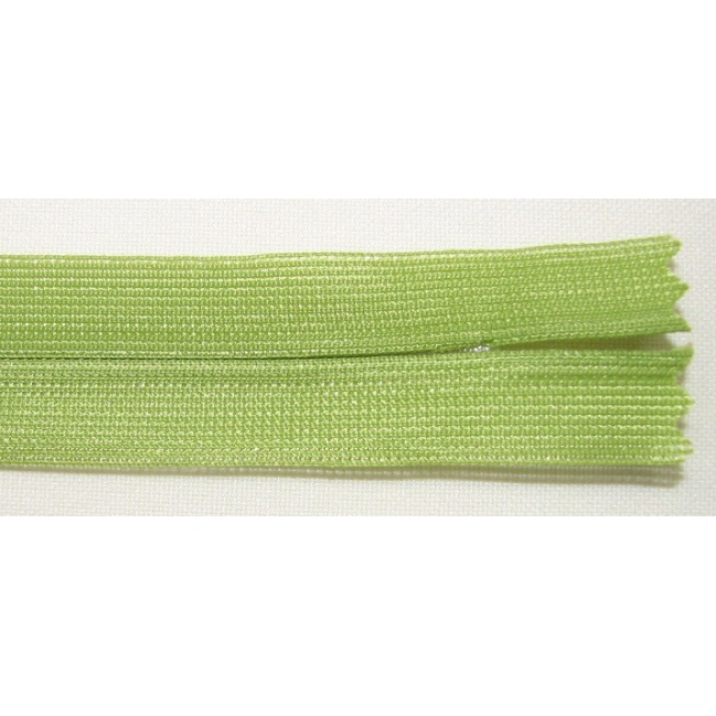 Zips krytý nedeliteľný 50cm jasná zelená