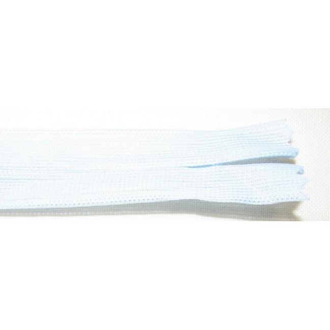 Zips krytý nedeliteľný 50cm bledo modrý