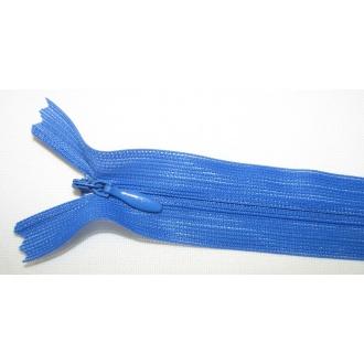 Zips krytý nedeliteľný 50cm kráľovská modrá