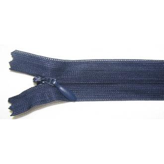 Zips krytý nedeliteľný 50cm tmavo modrá