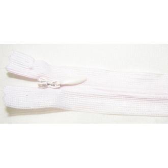Zips krytý nedeliteľný 50cm bledučko ružová