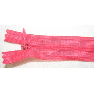 Zips krytý nedeliteľný 50cm neónová ružová