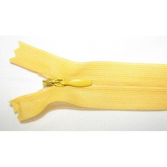 Zips krytý nedeliteľný 50cm žltá