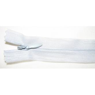 Zips krytý nedeliteľný 50cm bledo šedý
