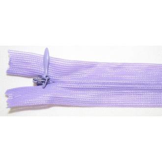Zips krytý nedeliteľný 50cm fialová