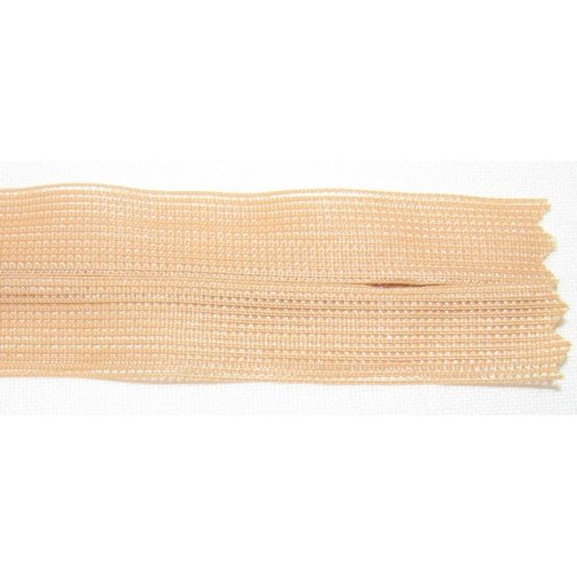 Zips krytý nedeliteľný 55cm béžový