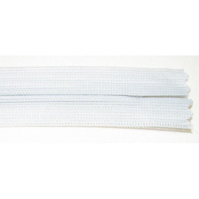 Zips krytý nedeliteľný 55cm bledo šedá