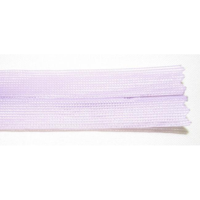 Zips krytý nedeliteľný 55cm bledá fialová