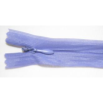 Zips krytý nedeliteľný 55cm fialová