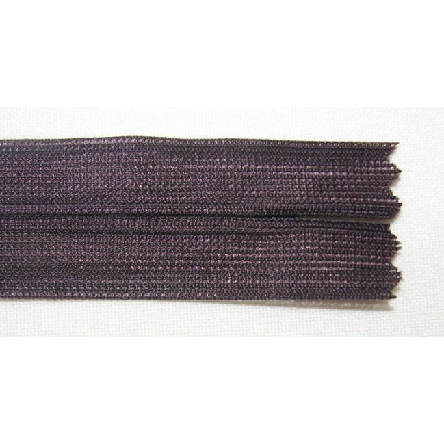 Zips krytý nedeliteľný 55cm tmavá fialová