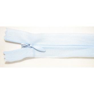 Zips krytý nedeliteľný 55cm bledo modrá