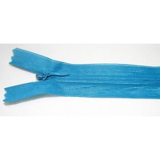 Zips krytý nedeliteľný 55cm tmavá tyrkys