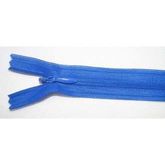 Zips krytý nedeliteľný 55cm kráľovská modrá