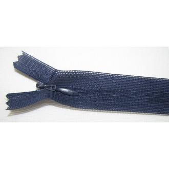 Zips krytý nedeliteľný 55cm tmavo modrá