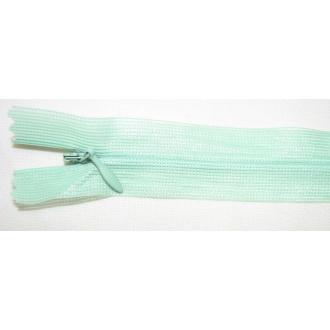 Zips krytý nedeliteľný 55cm bledá zelená