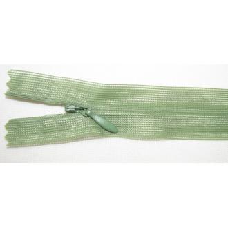 Zips krytý nedeliteľný 55cm zelená