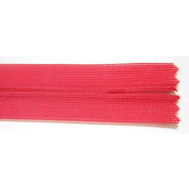 Zips krytý nedeliteľný 55cm červený