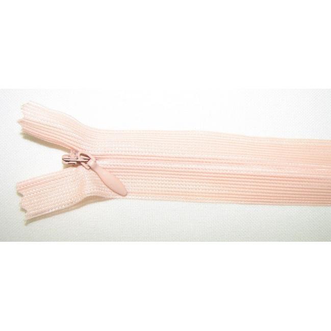 Zips krytý nedeliteľný 55cm marhuľová