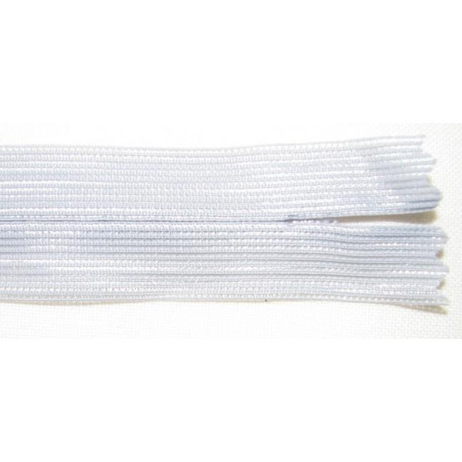 Zips krytý nedeliteľný 60cm bledo šedý