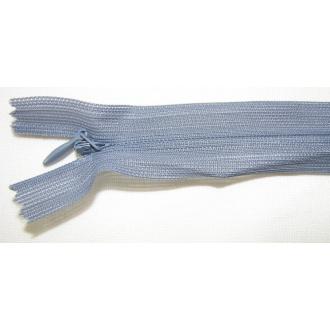 Zips krytý nedeliteľný 60cm tmavo šedý