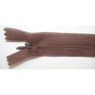 Zips krytý nedeliteľný 60cm hnedý