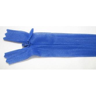 Zips krytý nedeliteľný 60cm kráľovská modrá