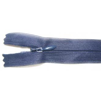 Zips krytý nedeliteľný 60cm tmavo modrá