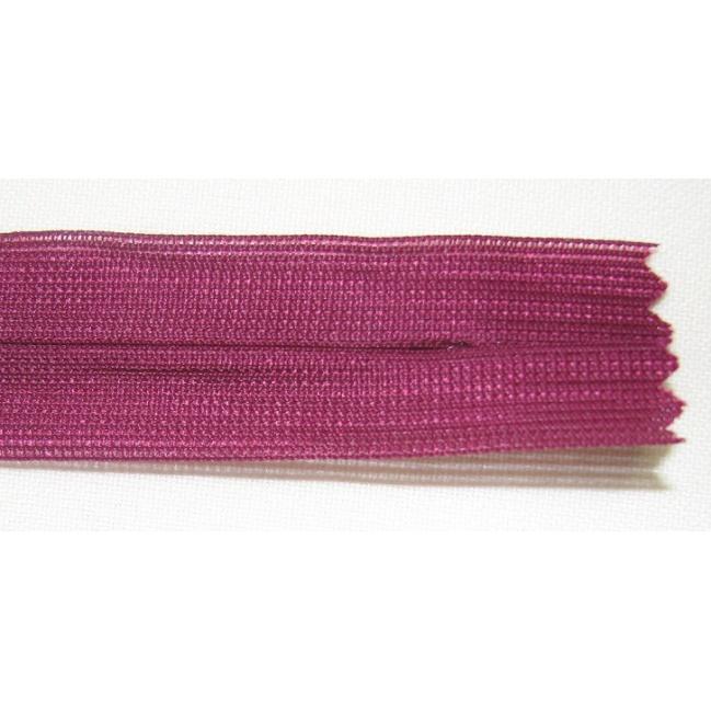 Zips krytý nedeliteľný 60cm tmavo fialová
