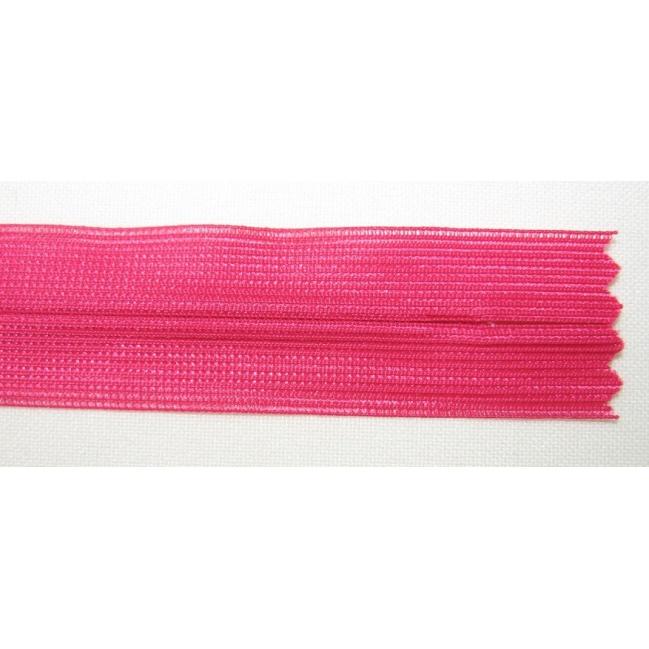 Zips krytý nedeliteľný 60cm tmavá cyklamenová