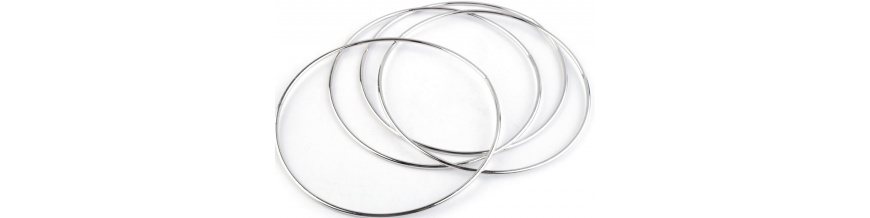 Kovové kruhy na lapače snov